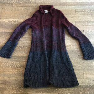 Cozy Free People long big knit cardigan